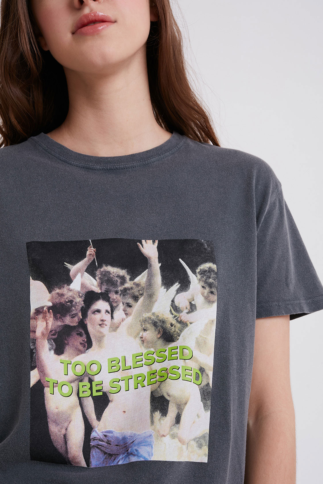 Too blessed printed t-shirt