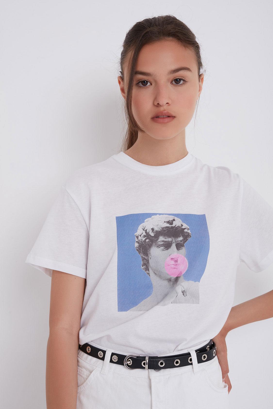 David printed t-shirt