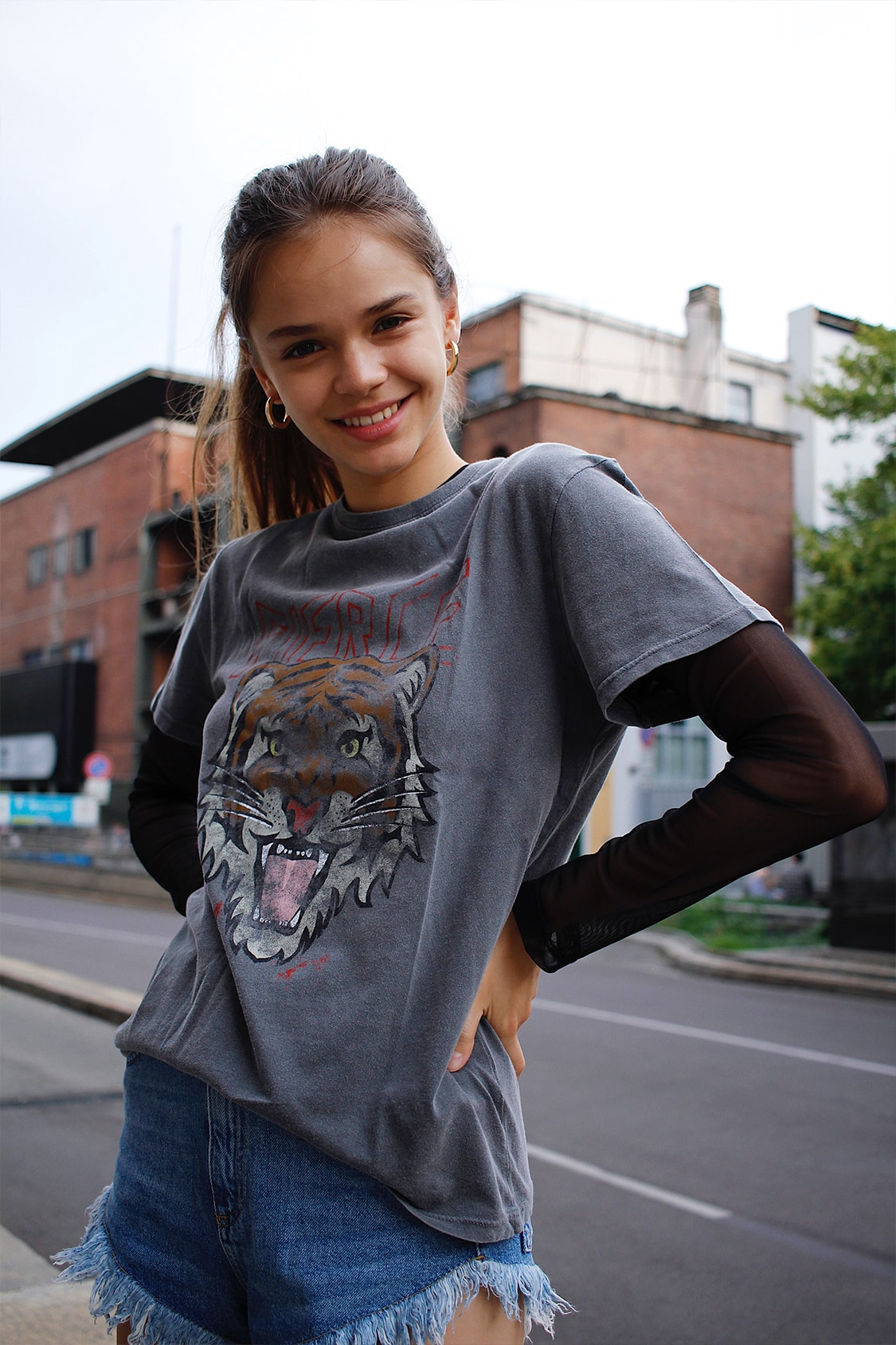 Tiger printed t-shirt