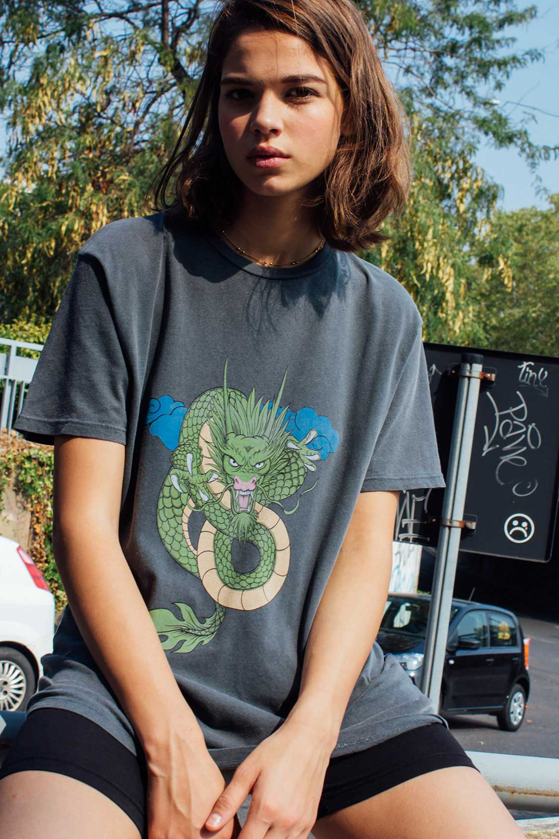 Oversized dragon t-shirt