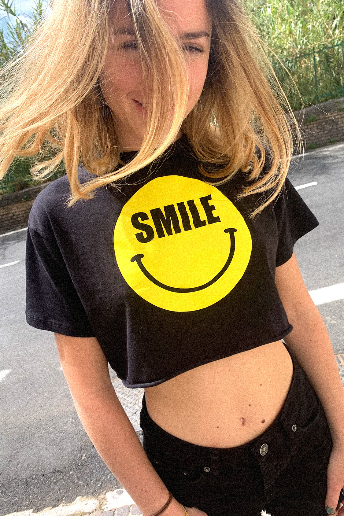 Smile printed t-shirt