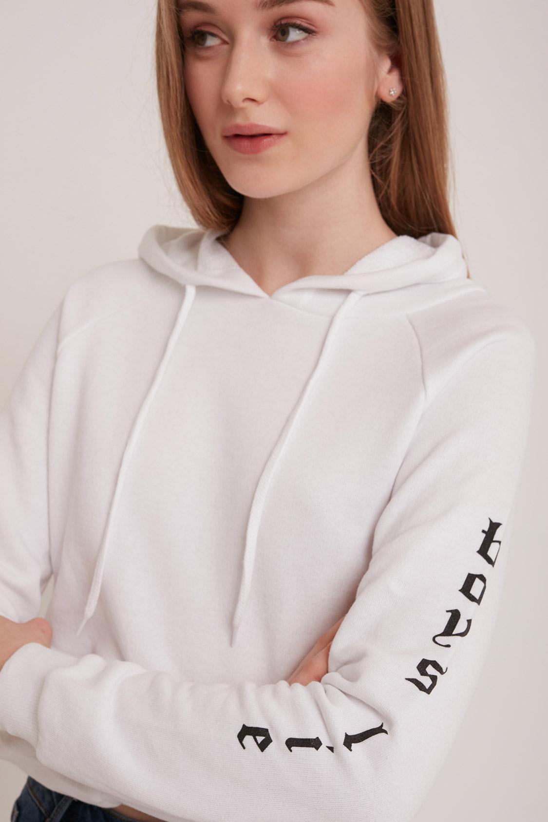 Boys lie printed hoodie