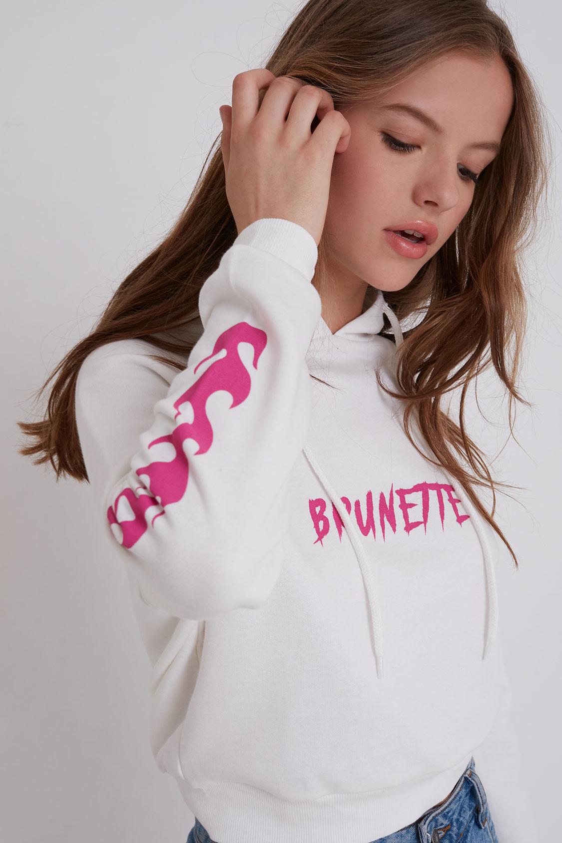 Brunette printed hoodie