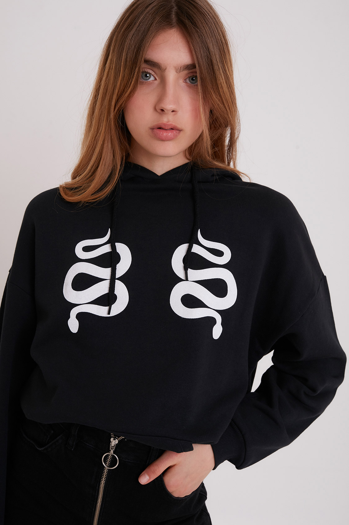 Snakes printed hoodie