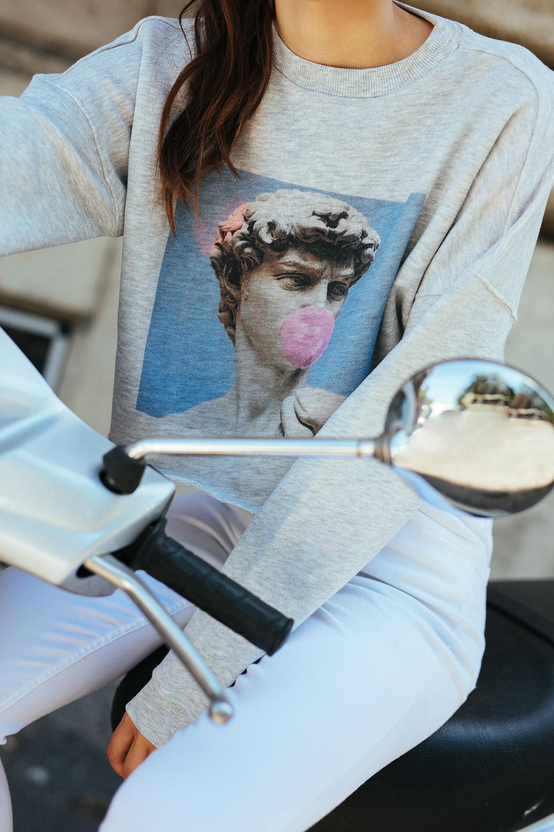 David printed sweatshirt