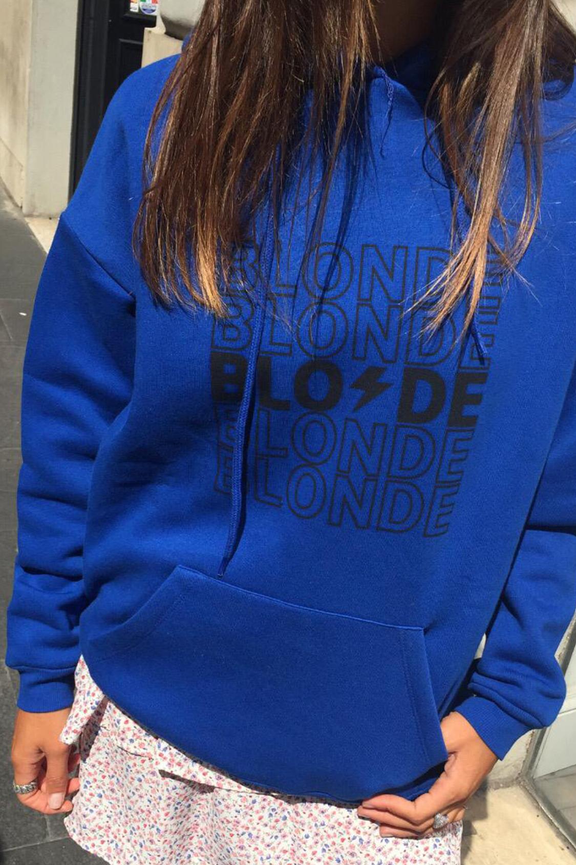 Blonde printed hoodie
