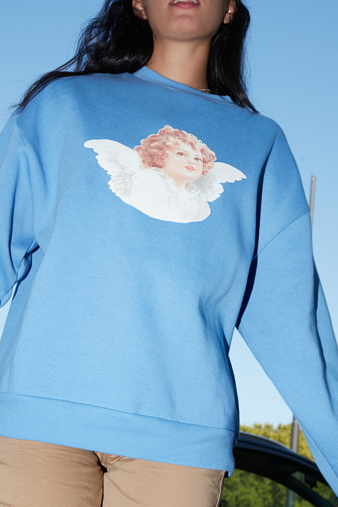 Angel printed sweatshirt