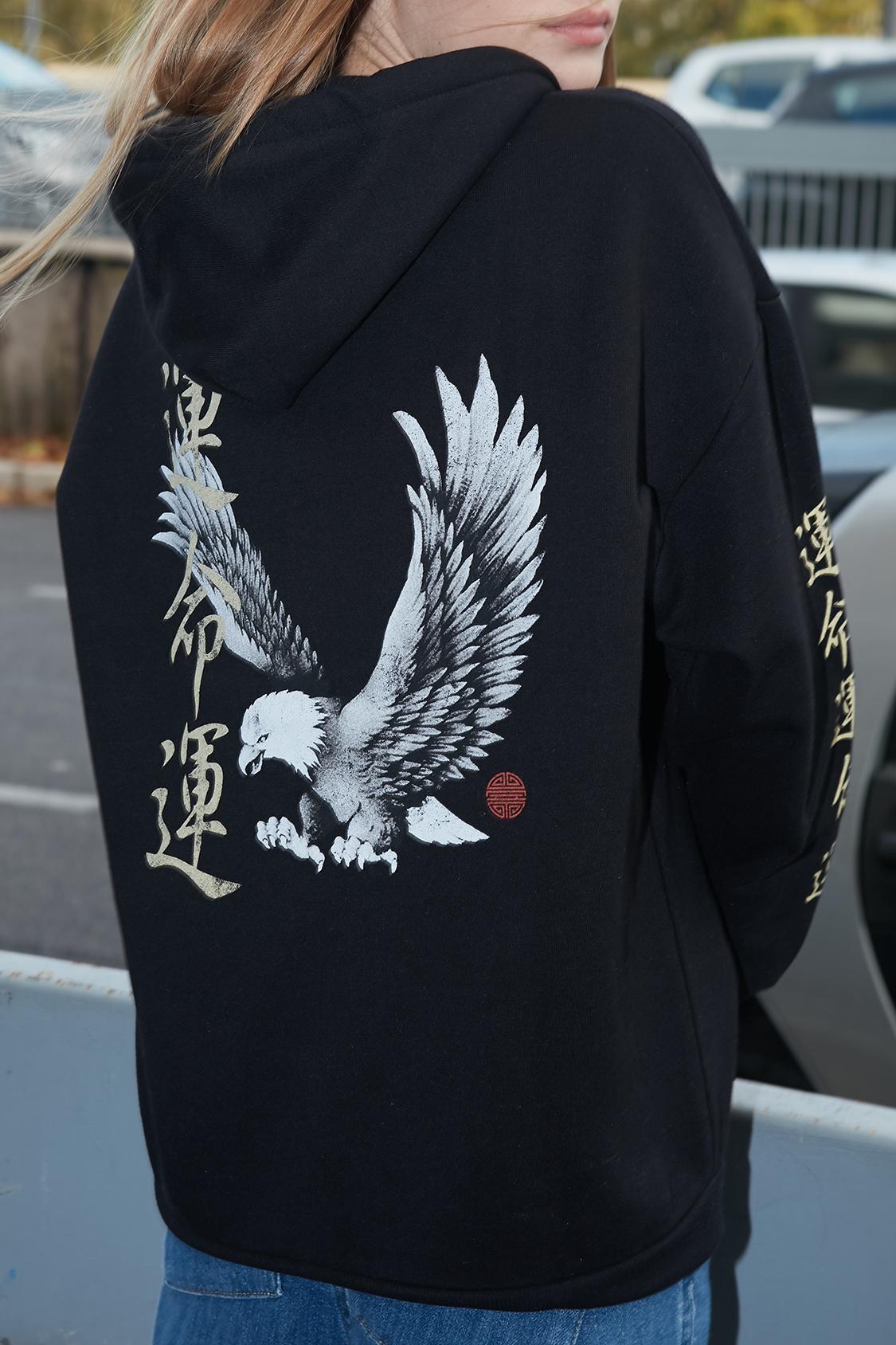 Sudadera capucha oversize águila