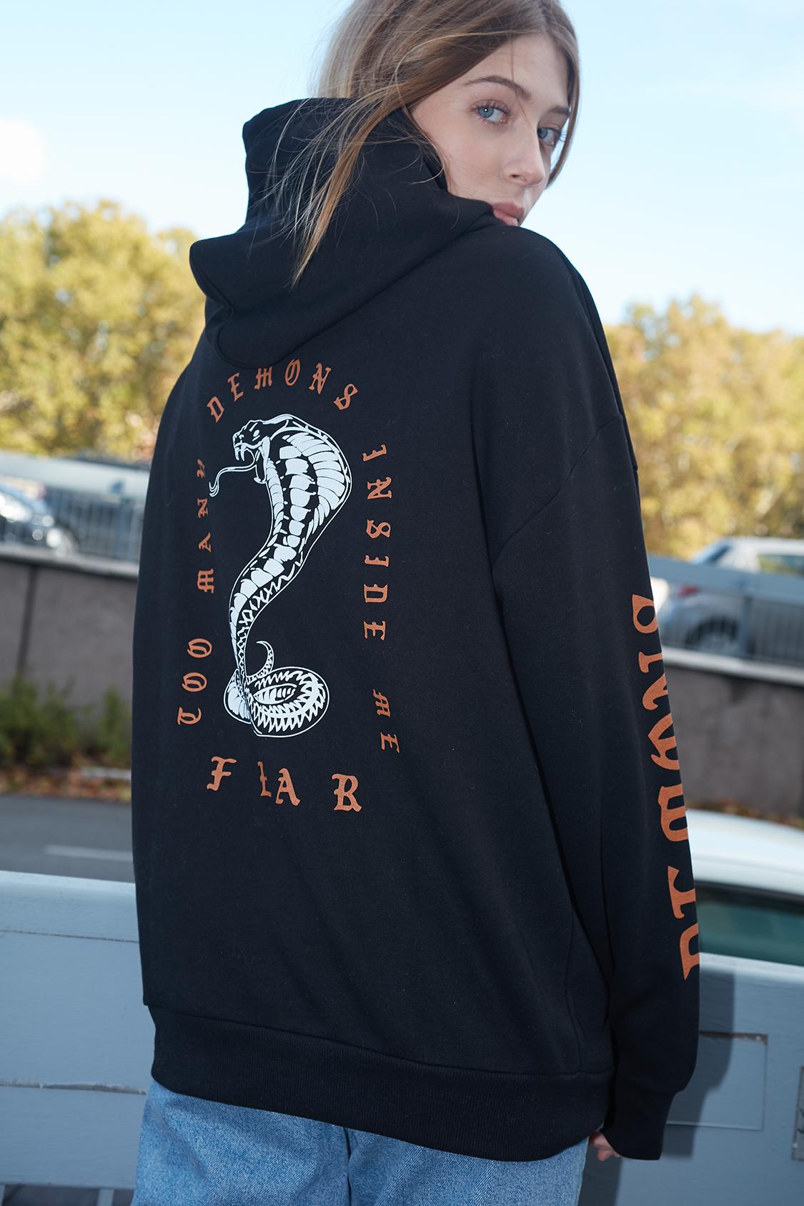 Snake printed hoodie