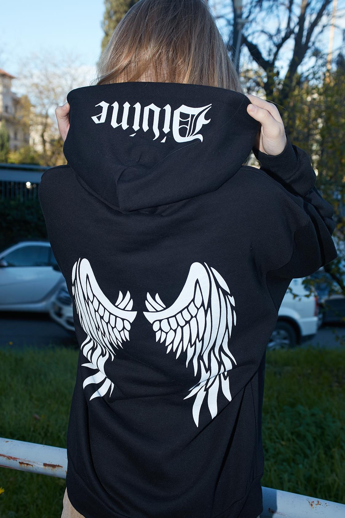 Divine printed hoodie