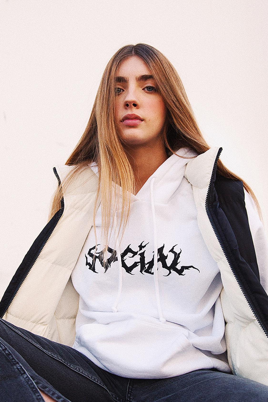 Social printed hoodie
