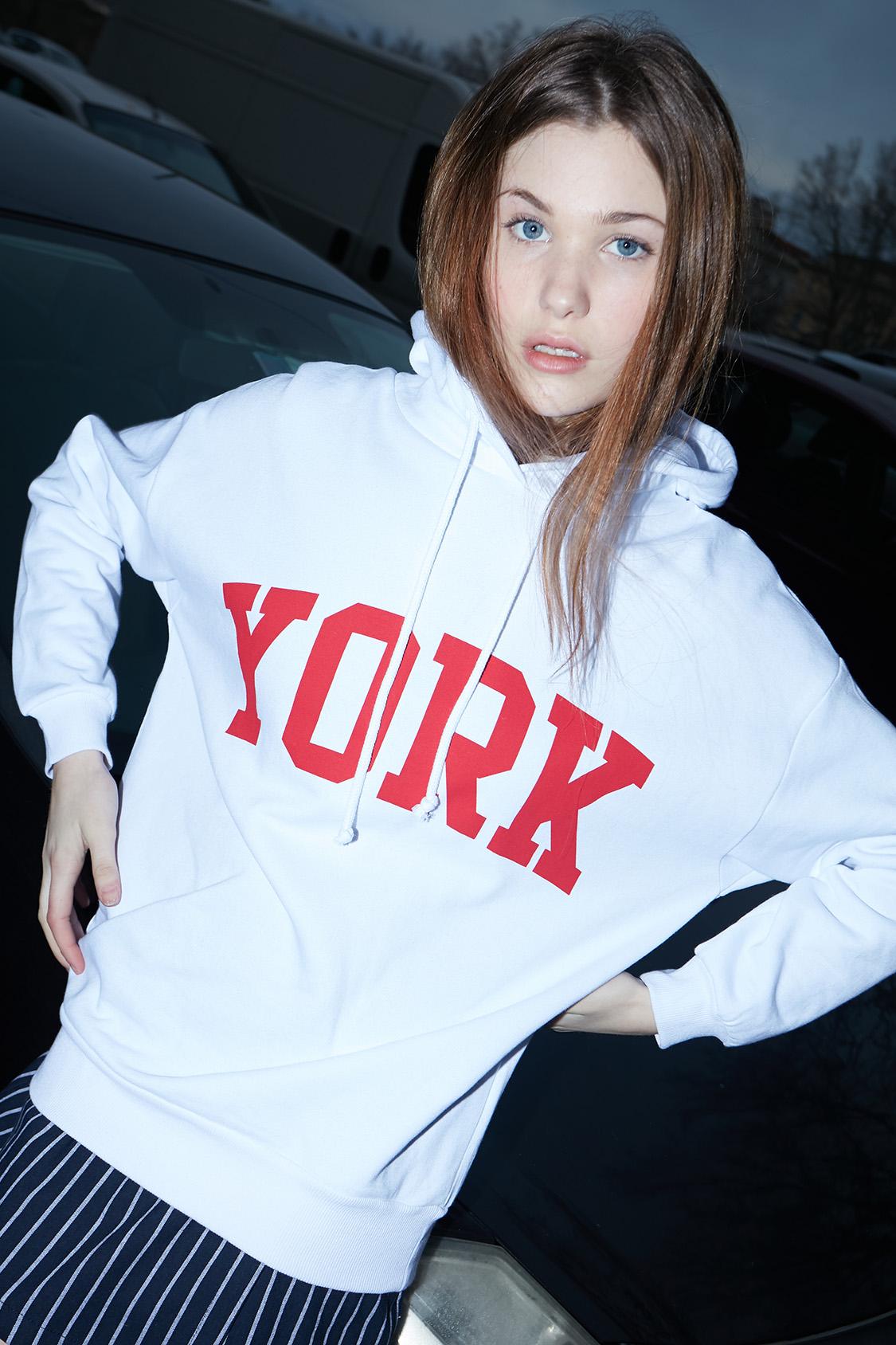 York printed hoodie