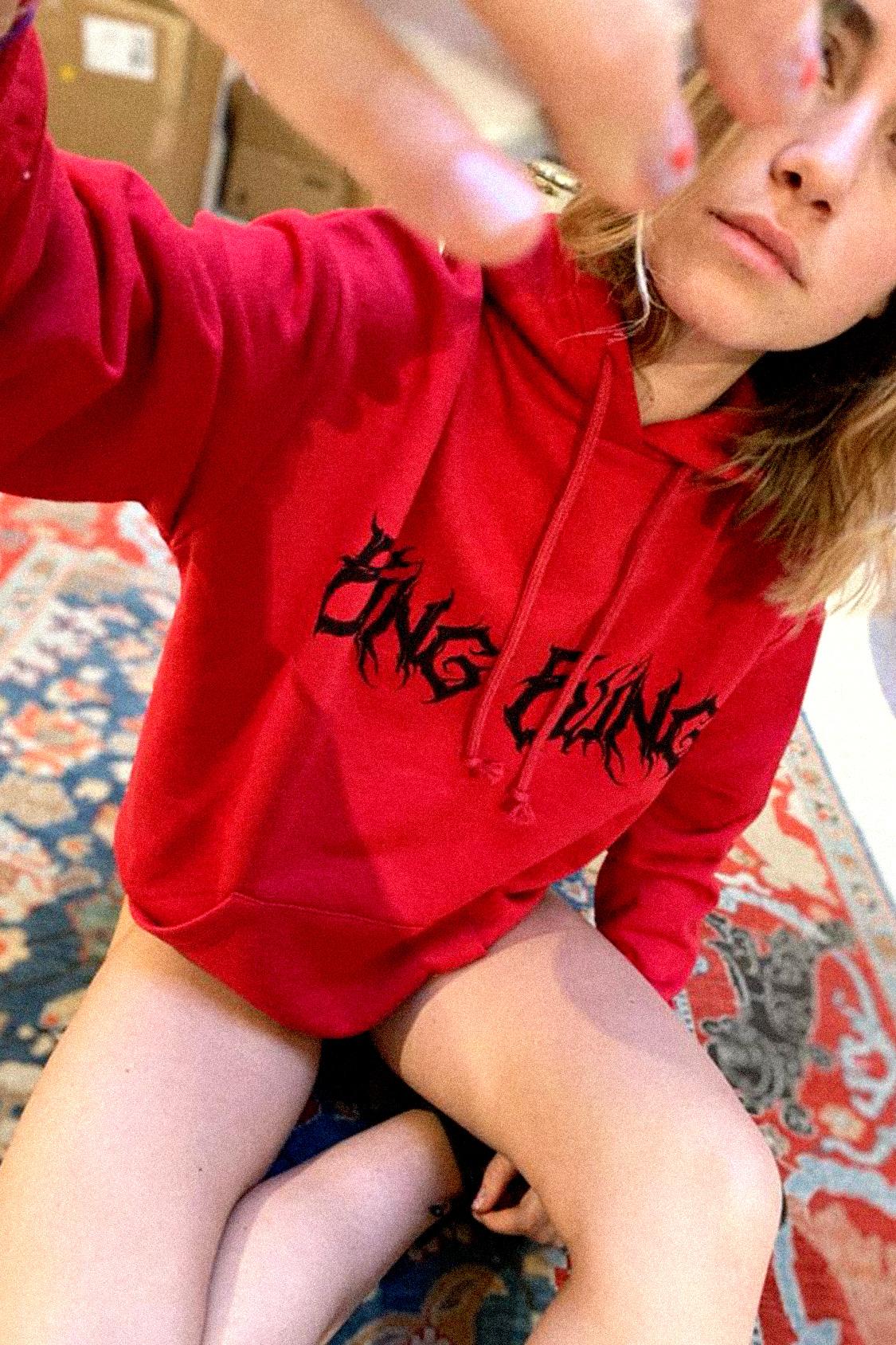 Bling printed hoodie
