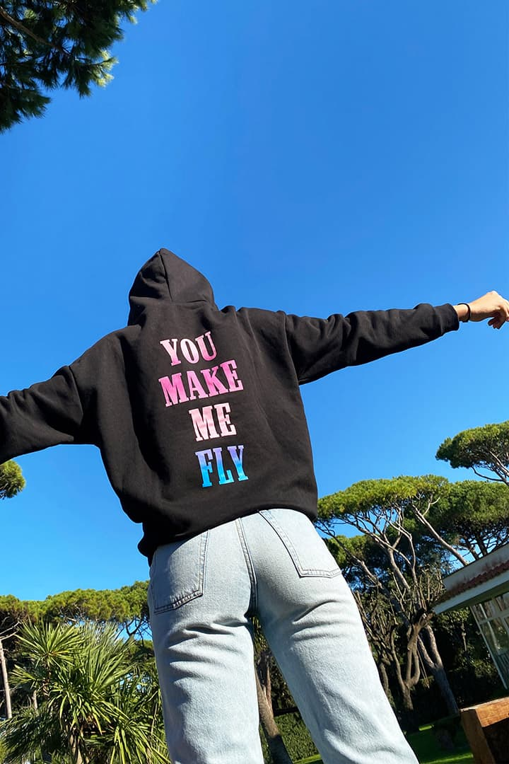 You make me fly hoodie