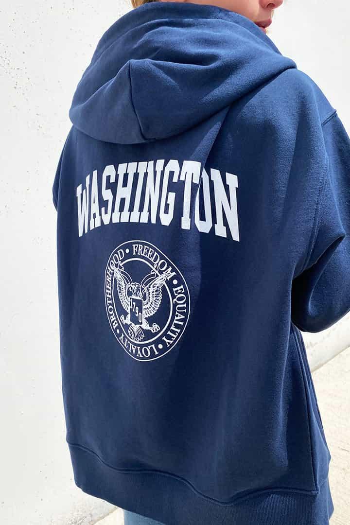 Sudadera cremallera Washington