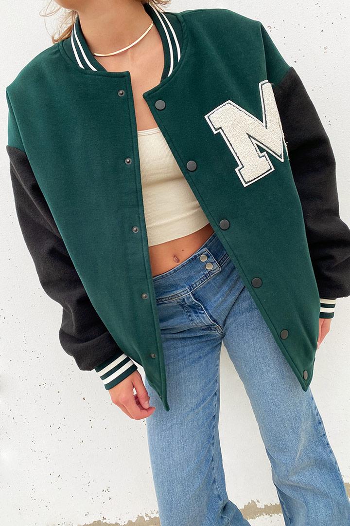 Michigan bomber jacket