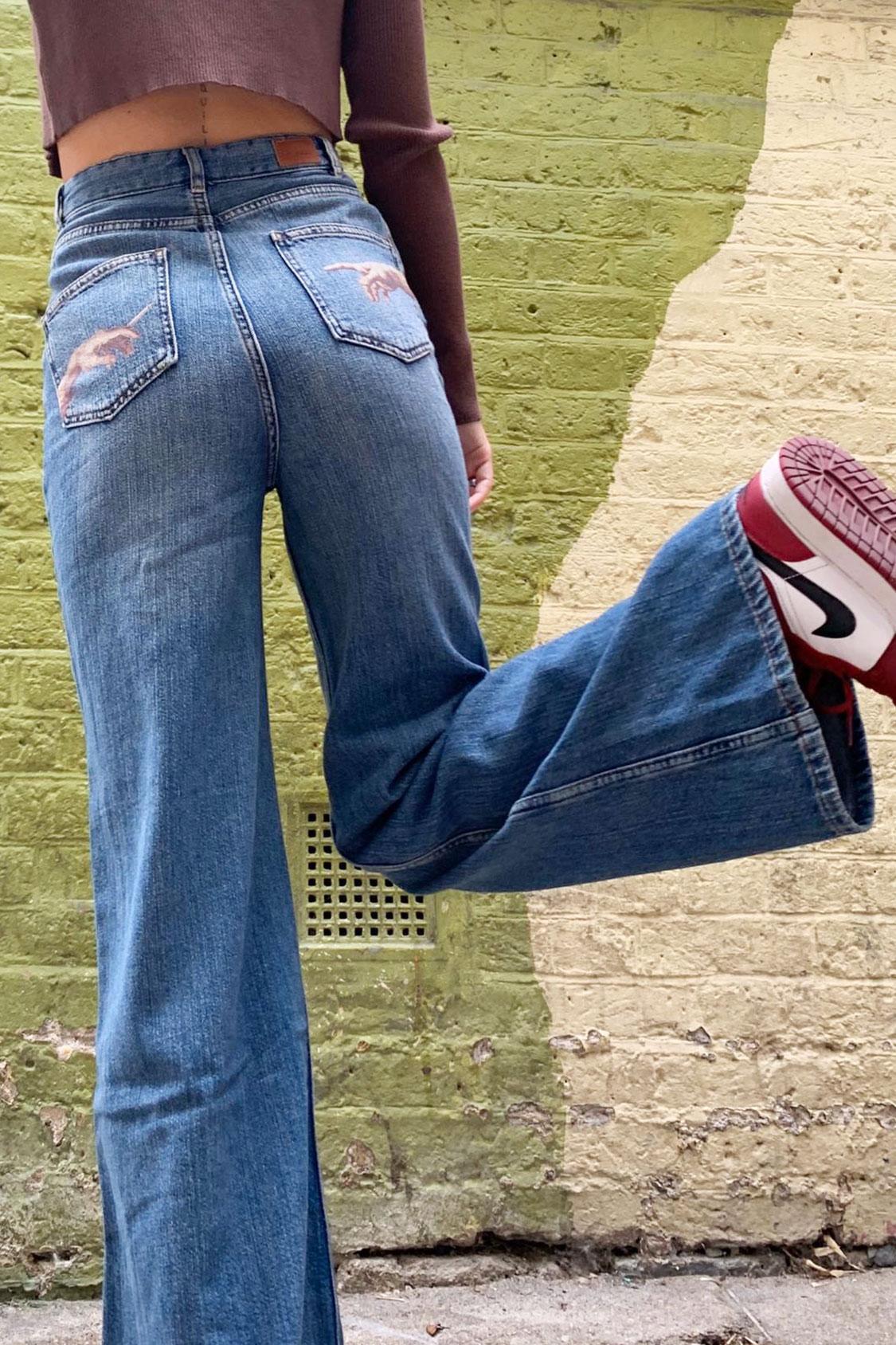 Jeans palazzo Creazione