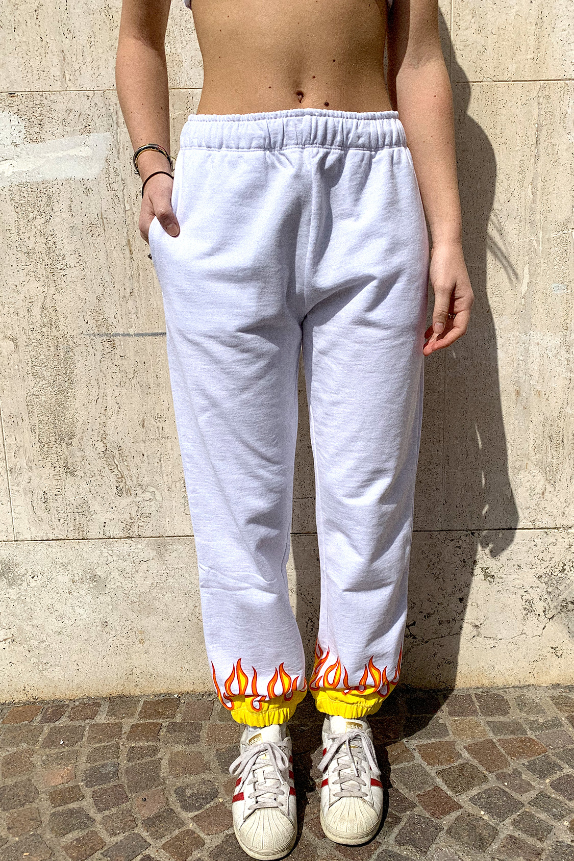 Flames printed joggers