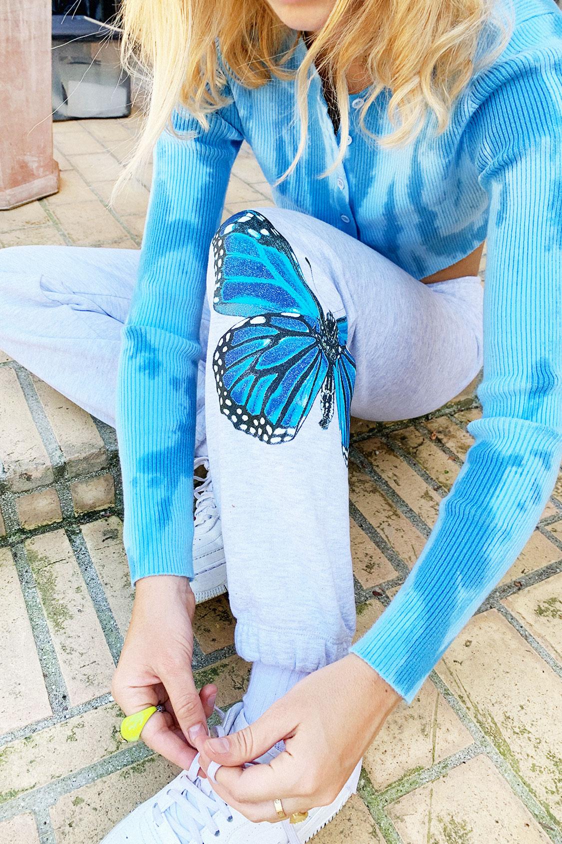 Pantaloni tuta farfalla