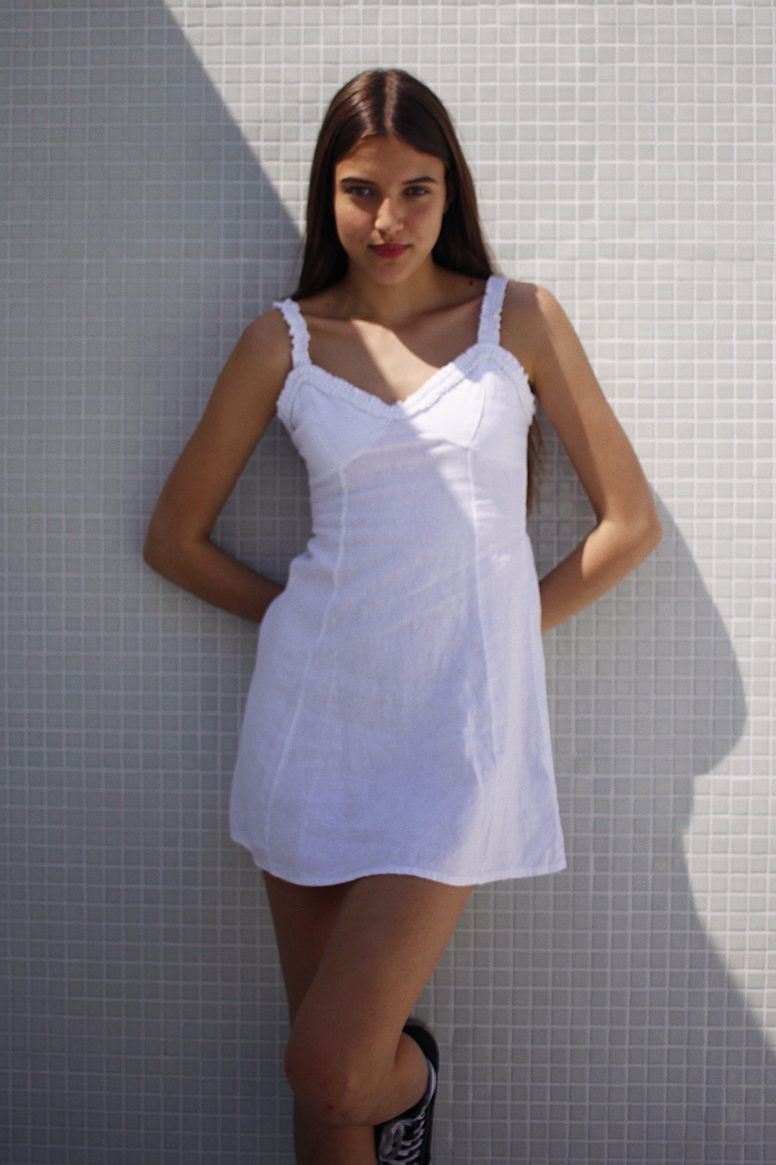 Shirred hems dress
