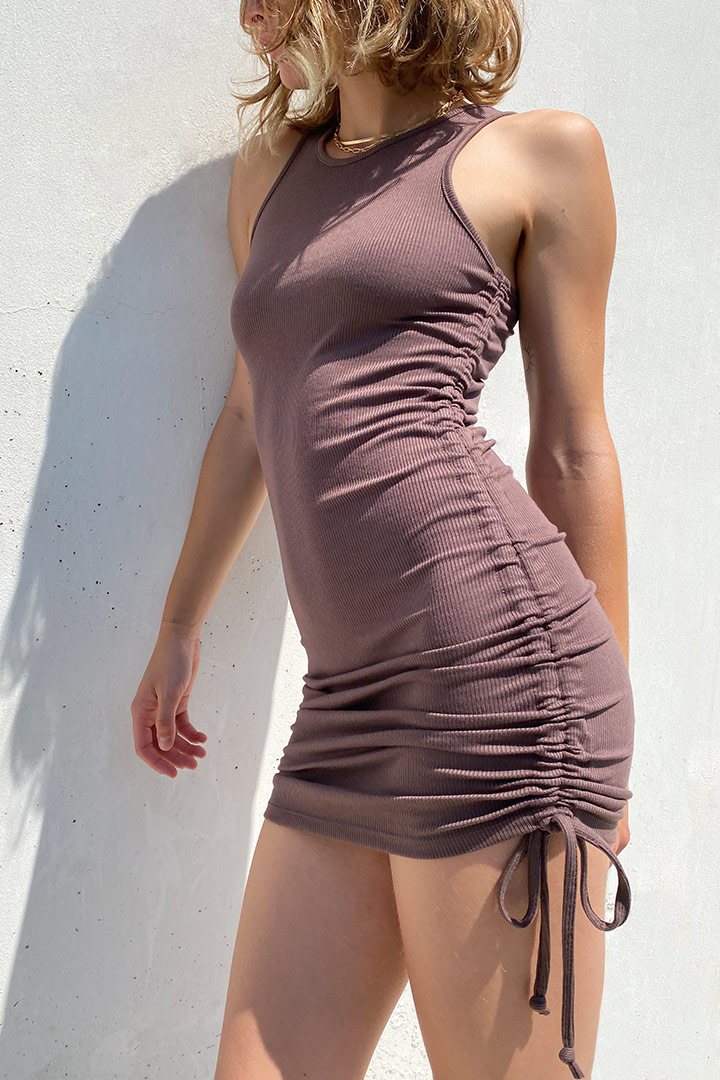 Robe avec coulisse
