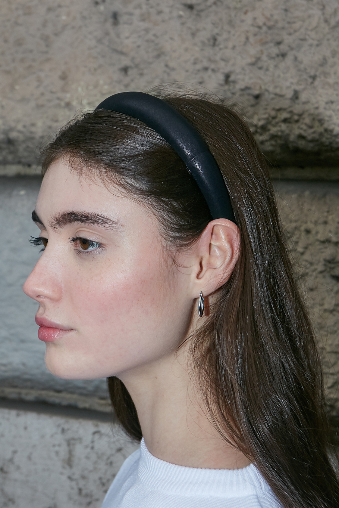 Faux leather headband
