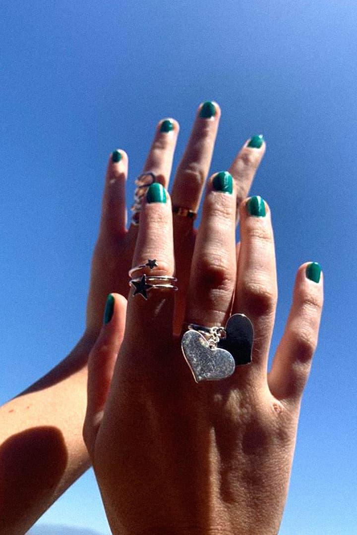 Hearts pendant ring