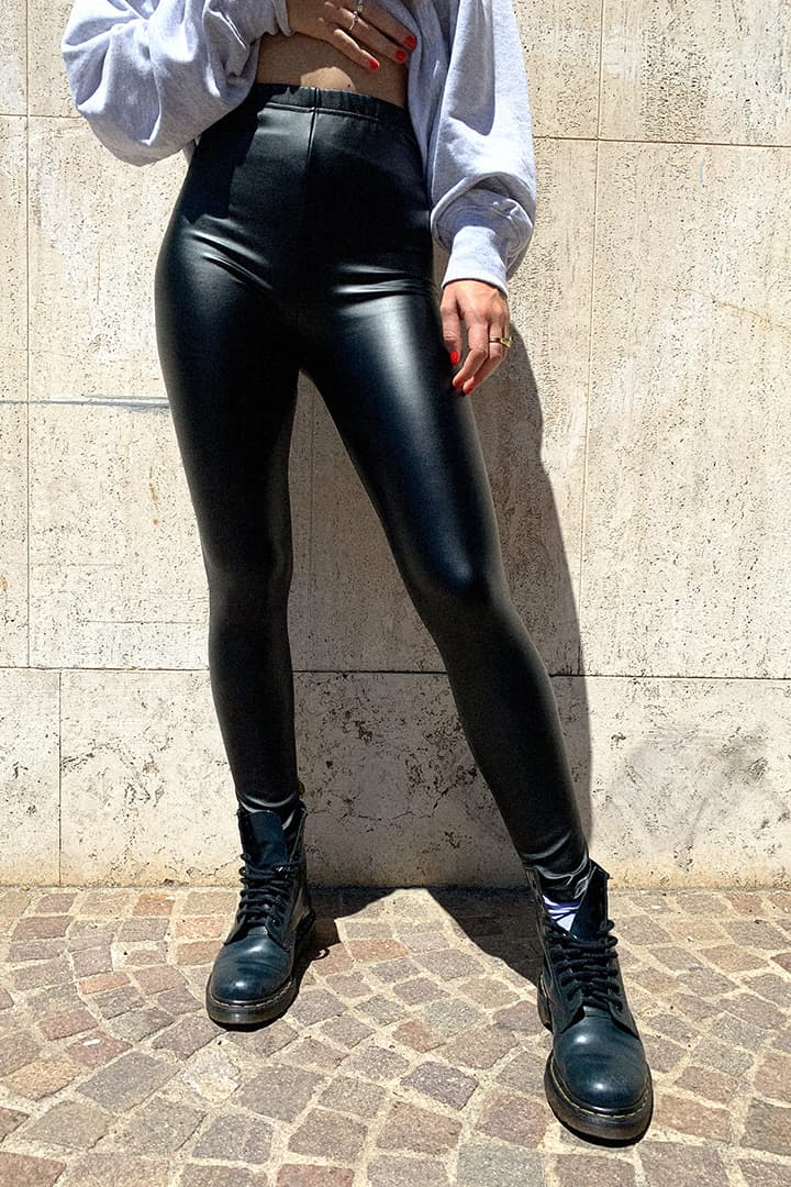 Leggings simil-cuir