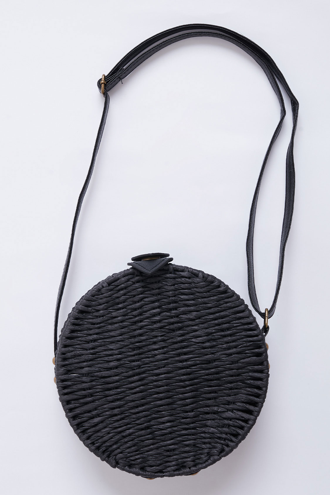 Straw cross-body bag