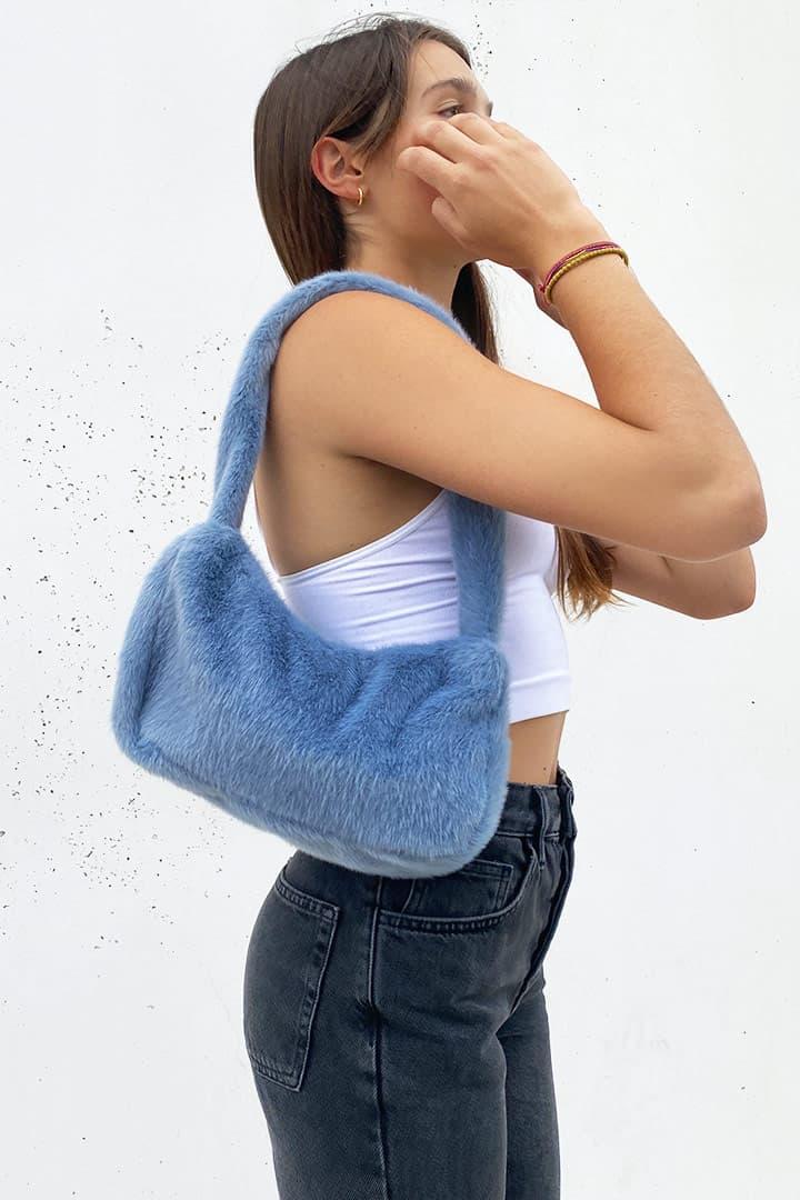 Cross-body fluffy bag