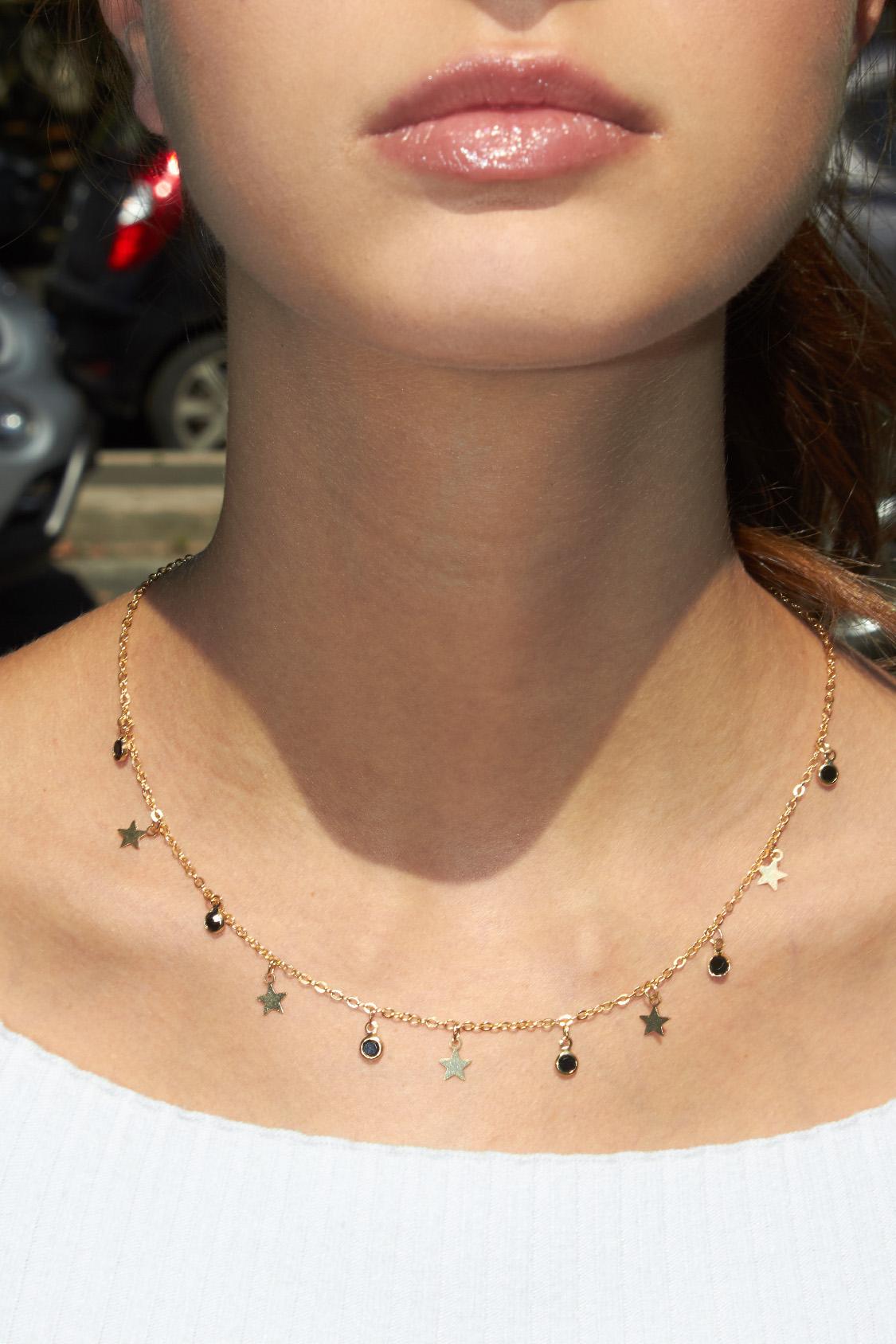 Stones & stars necklace