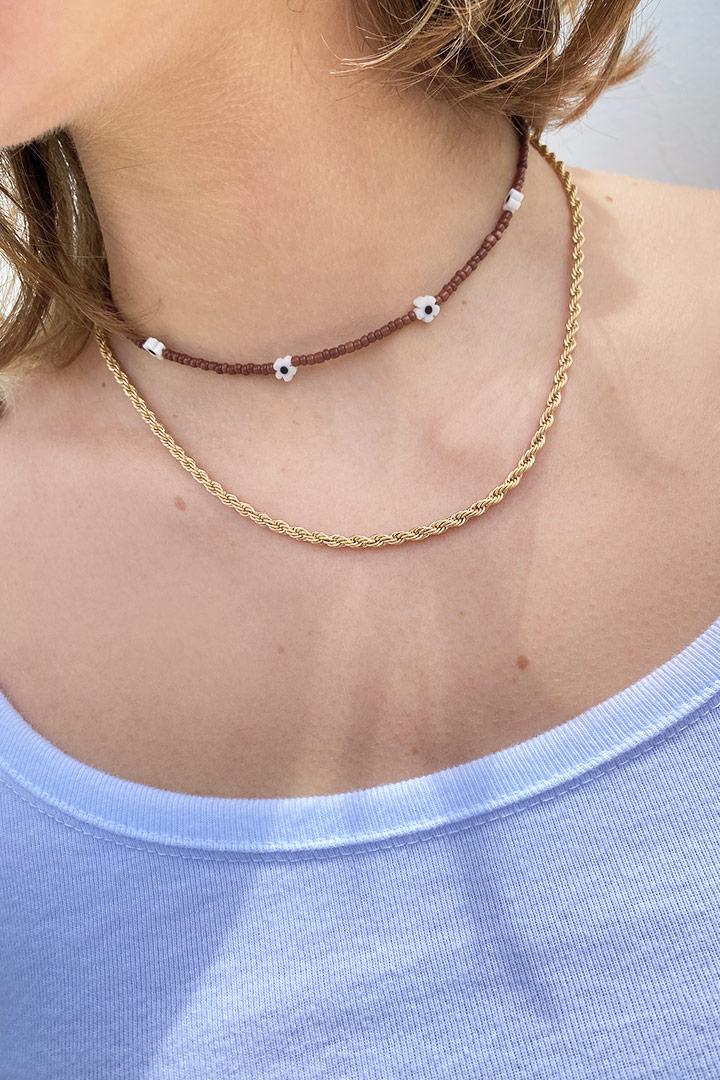Geflochtene Halskette