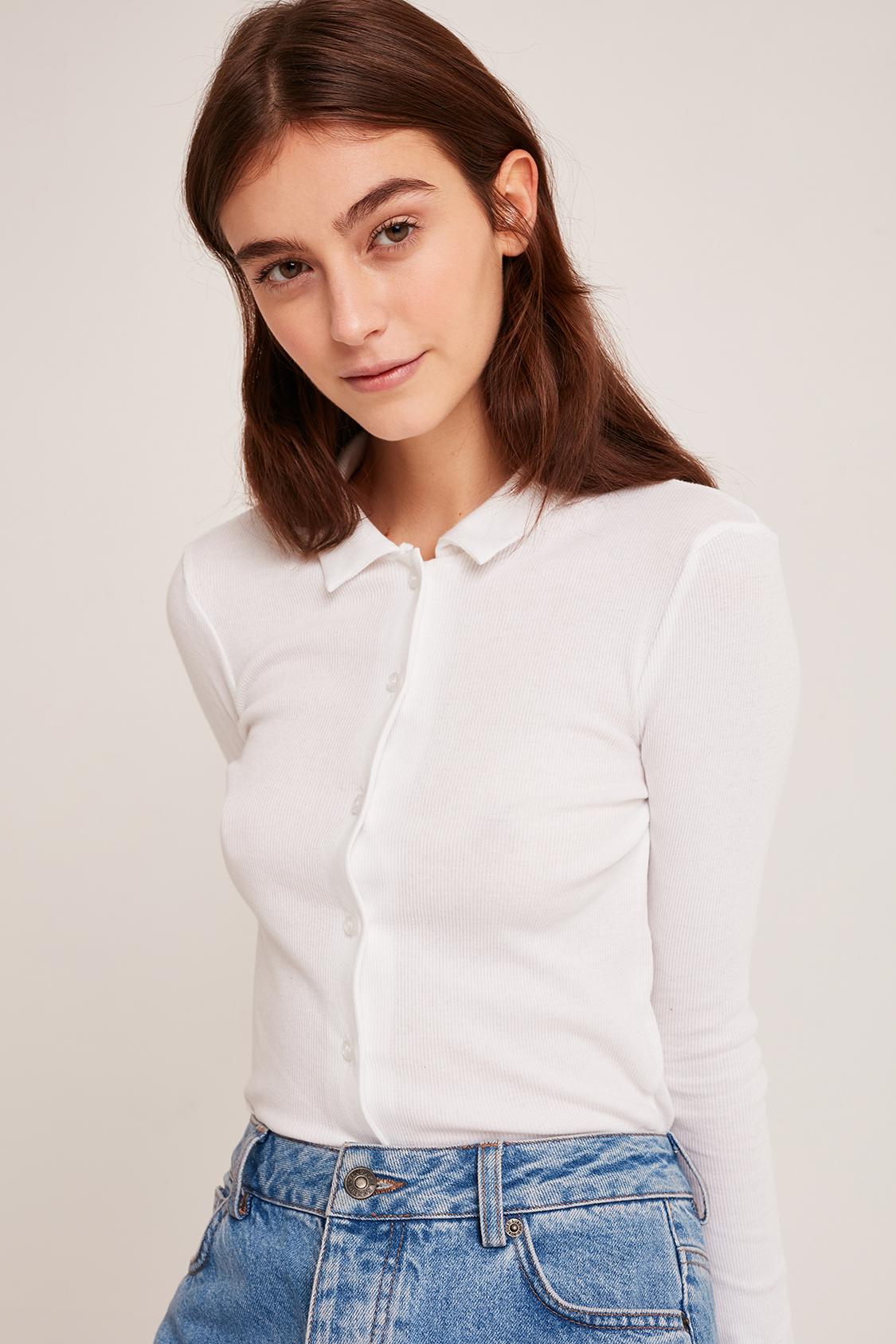 Chemise à côtelettes