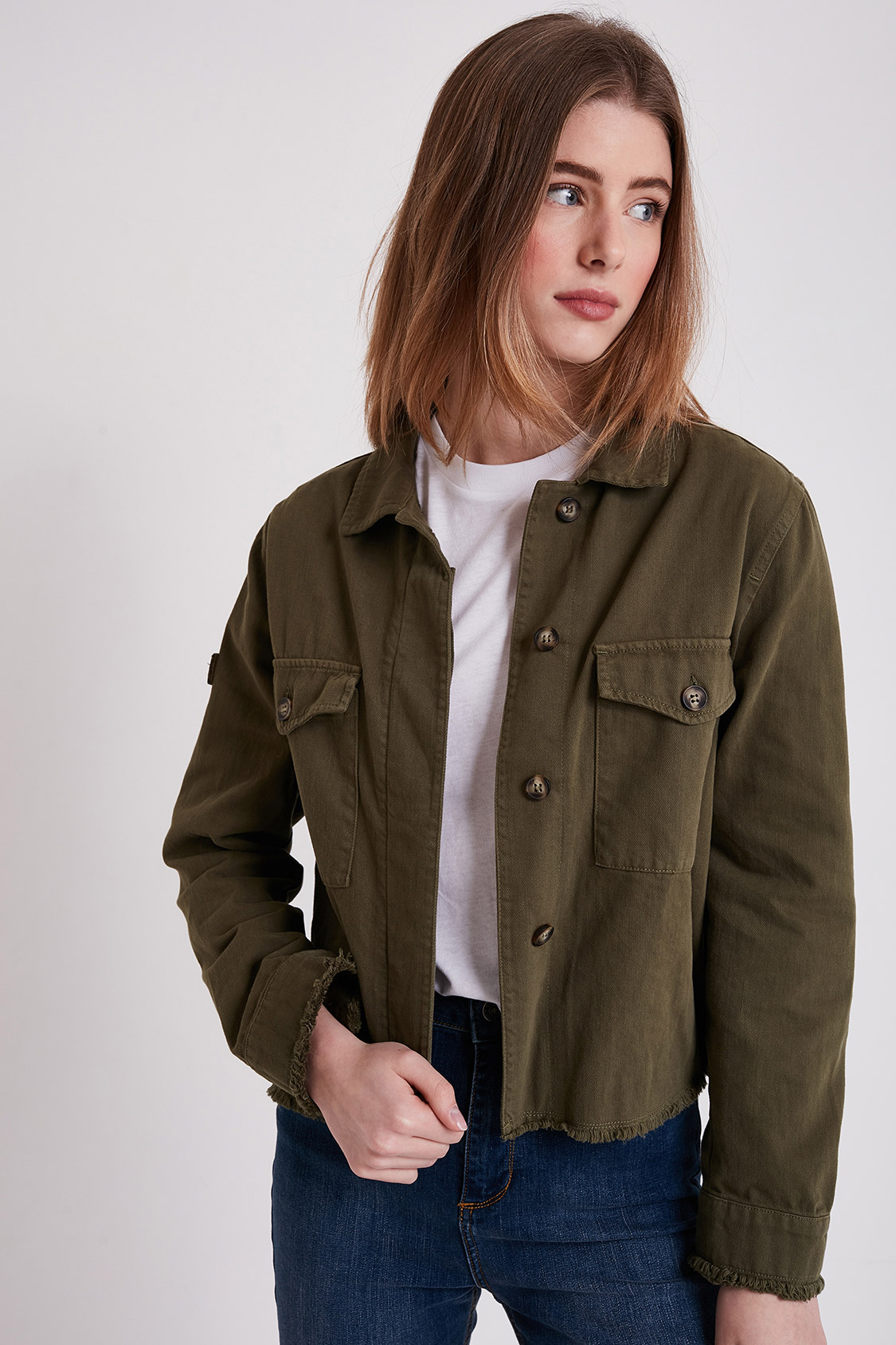 Parka con patch