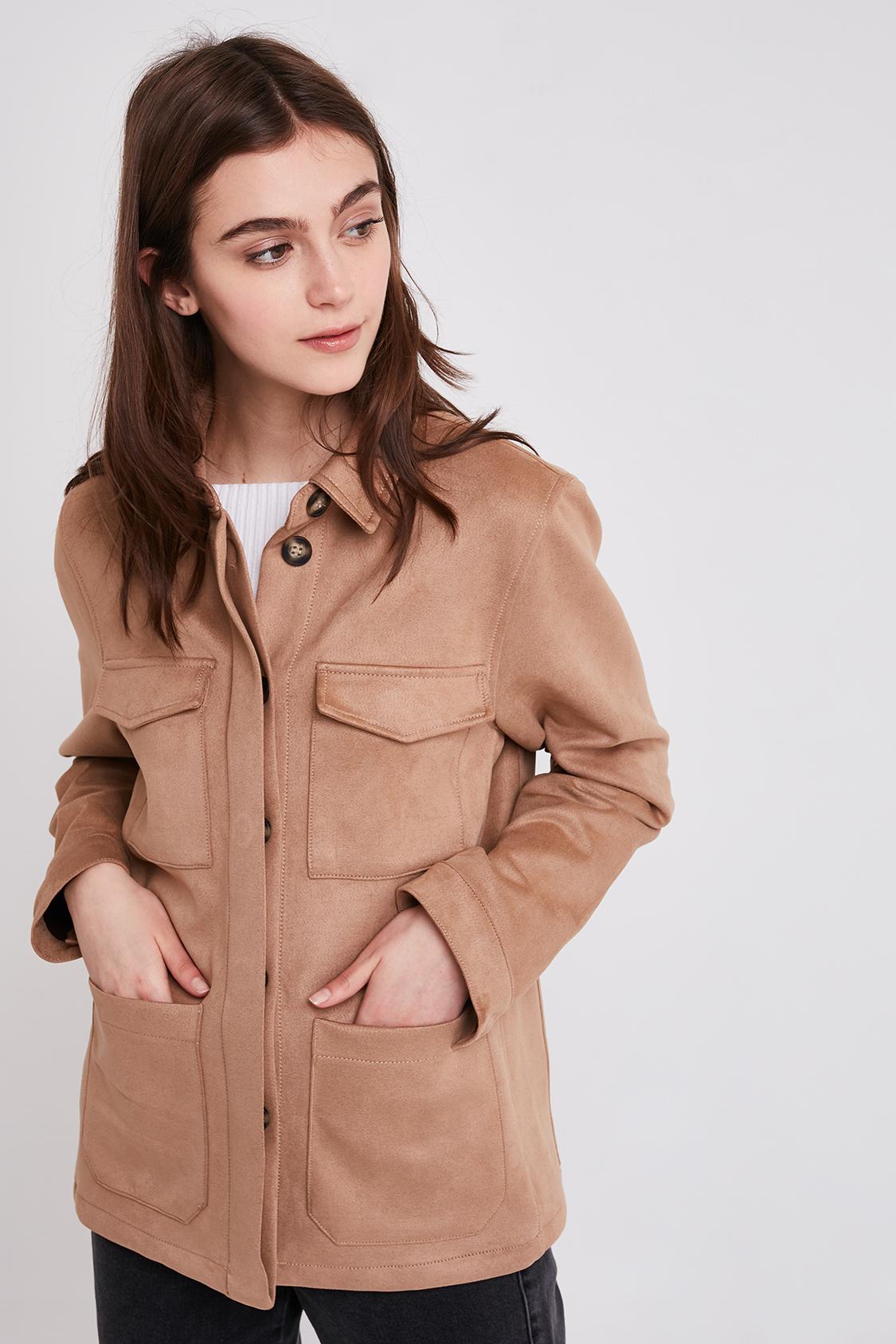 Suede effect jacket