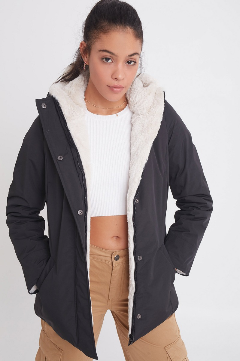 Chaqueta reversible impermeable