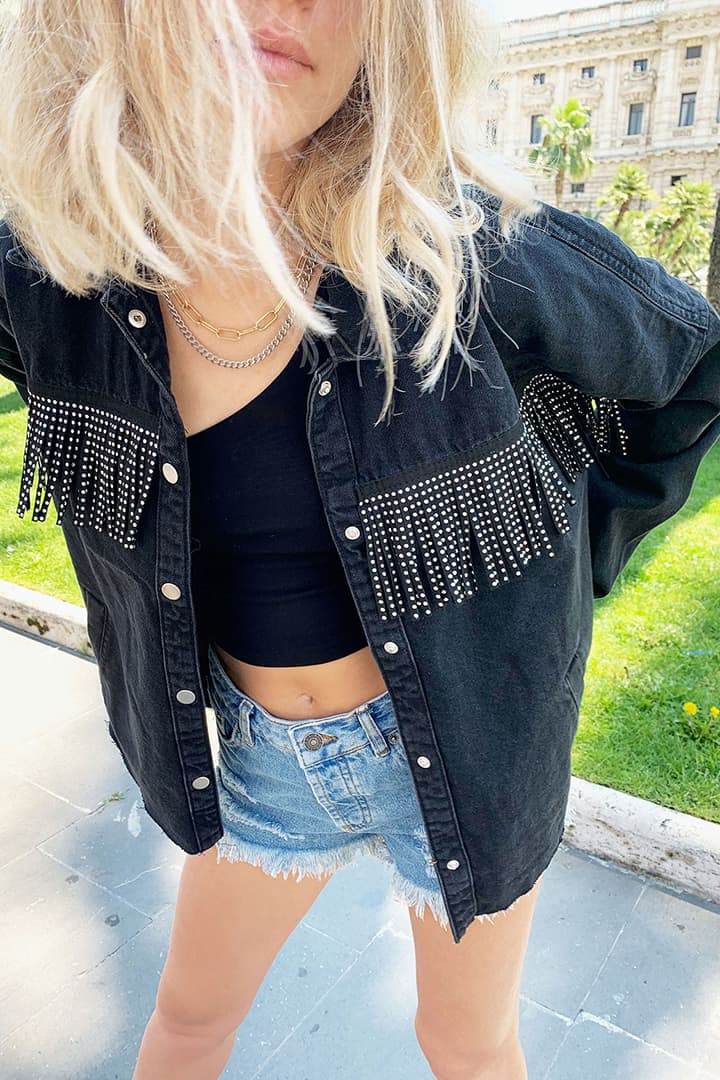 Fringed and studded jackets