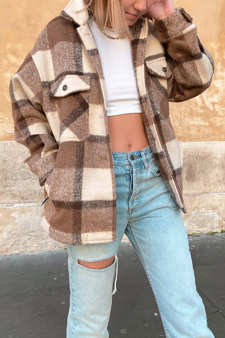 Tartan shirt jacket