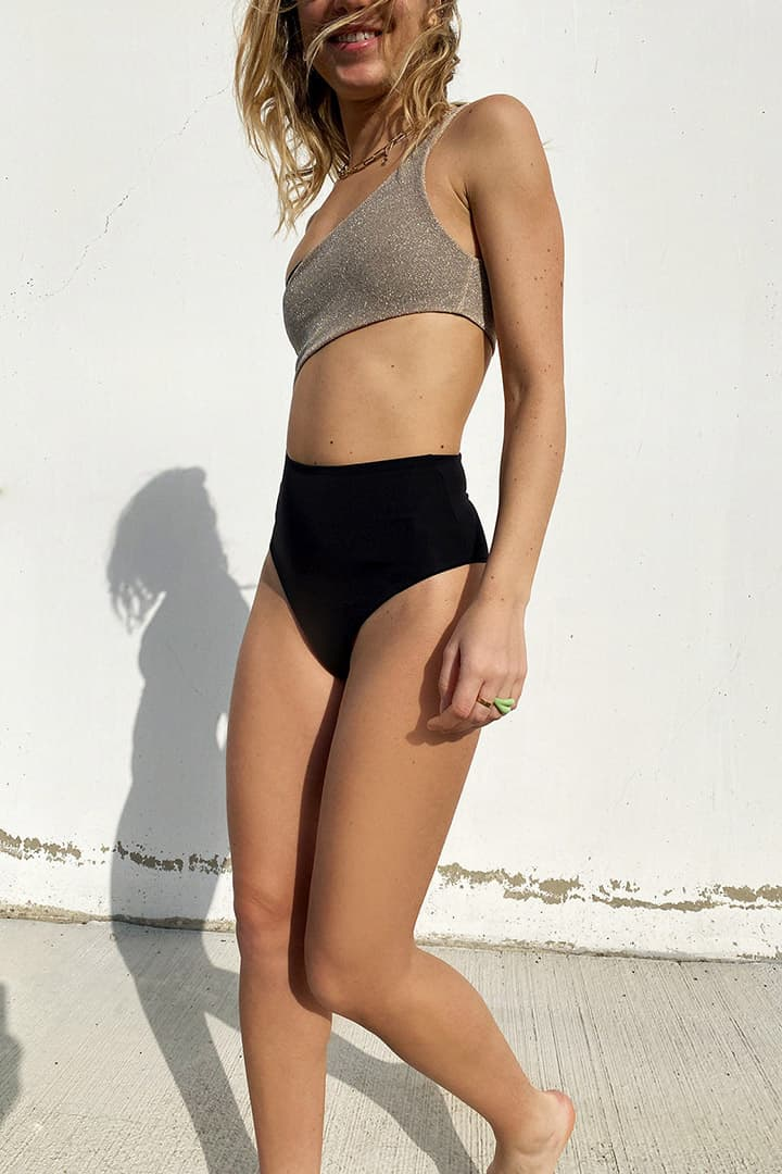 Sparkly one shoulder swimsuit