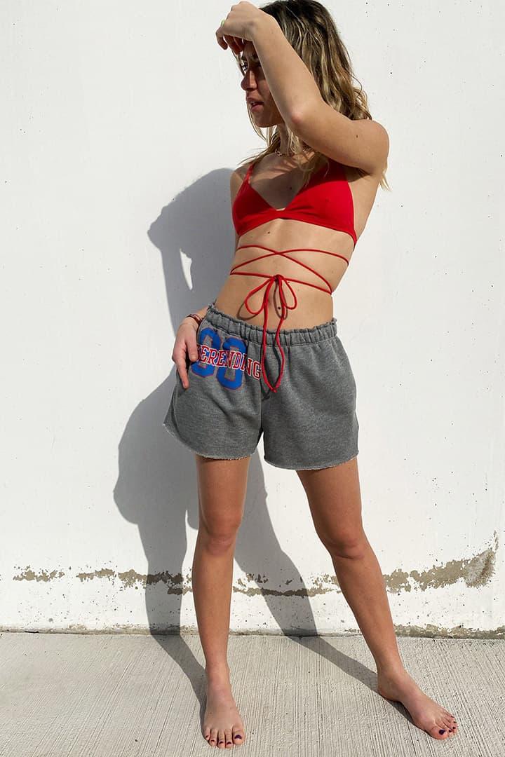 Top bikini triangolo incrocio