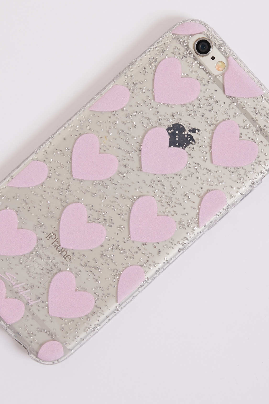 Hearts & glitter case - iPhone 6/6s