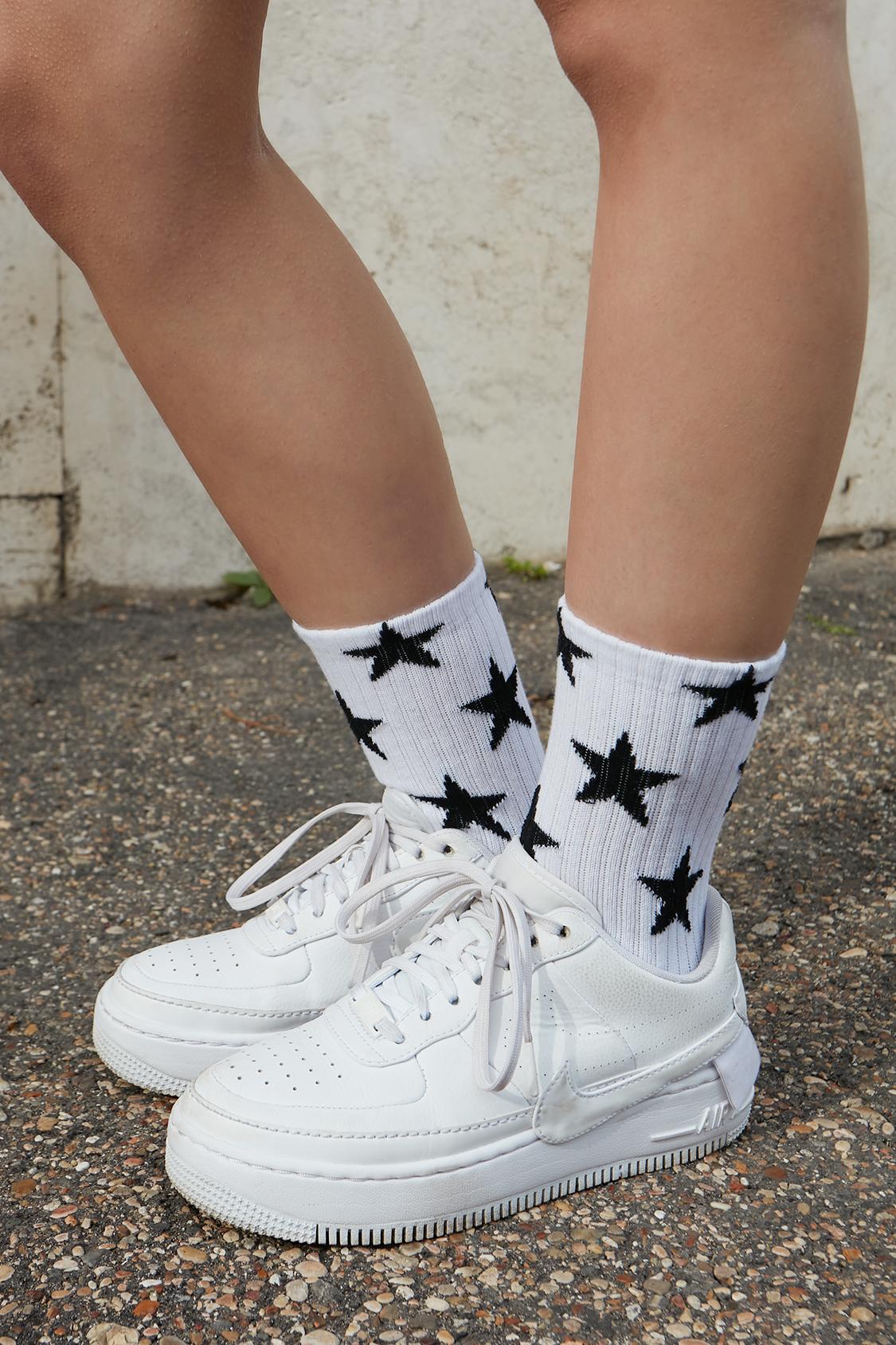 Stars printed socks