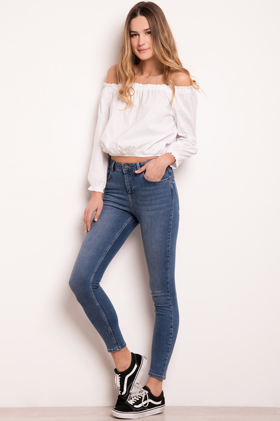 Jeans skinny vita alta
