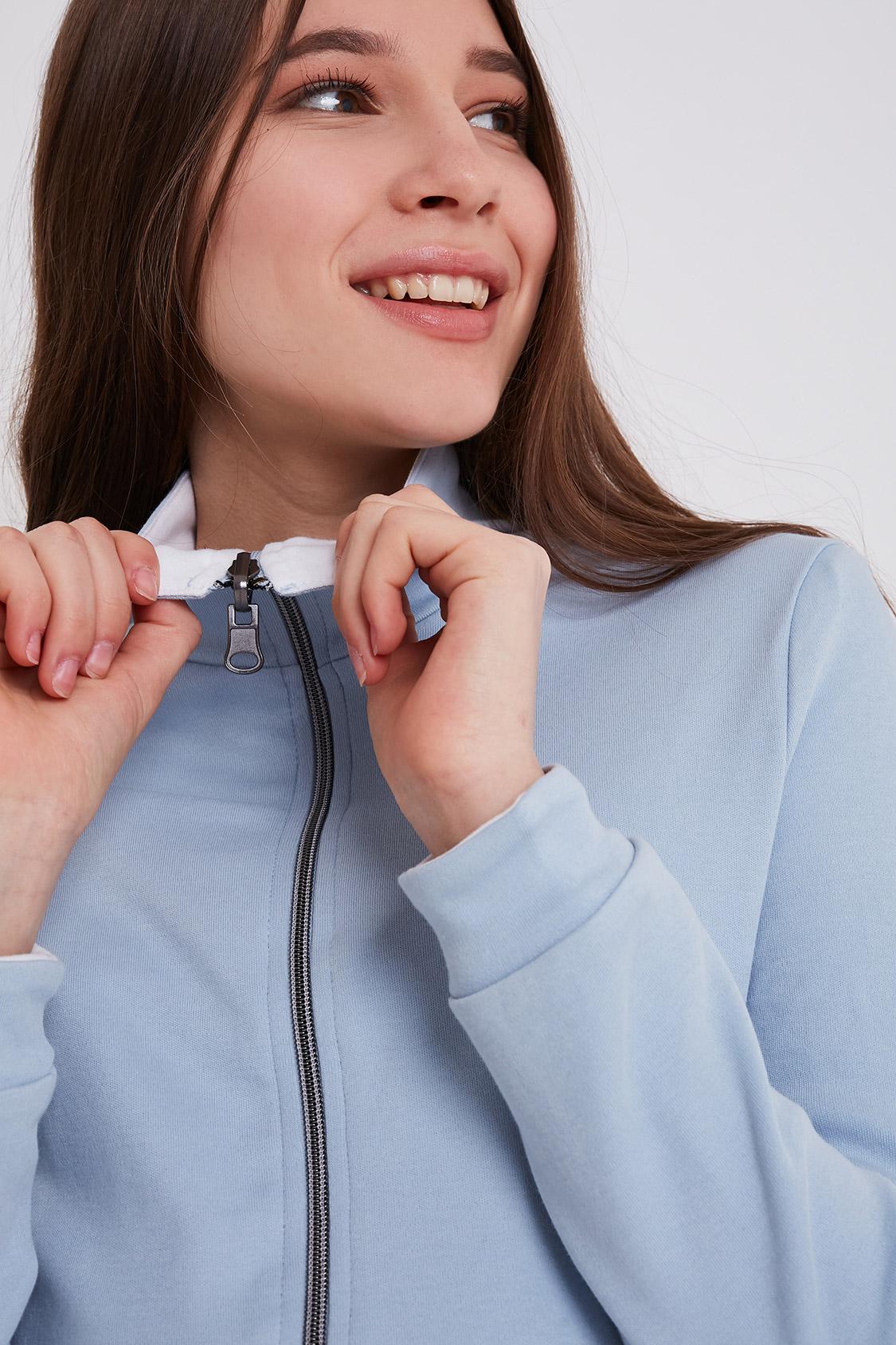 Reversible full zip sweatshirt