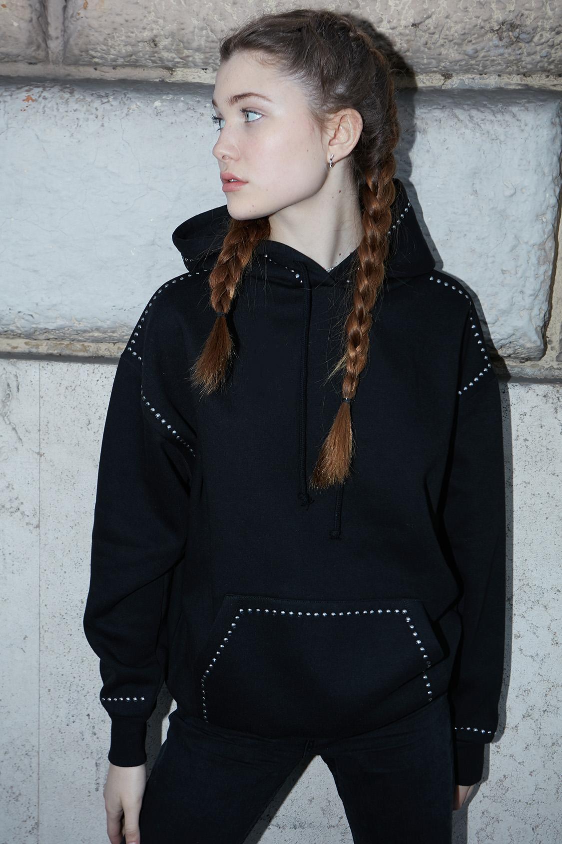 Studded hoodie