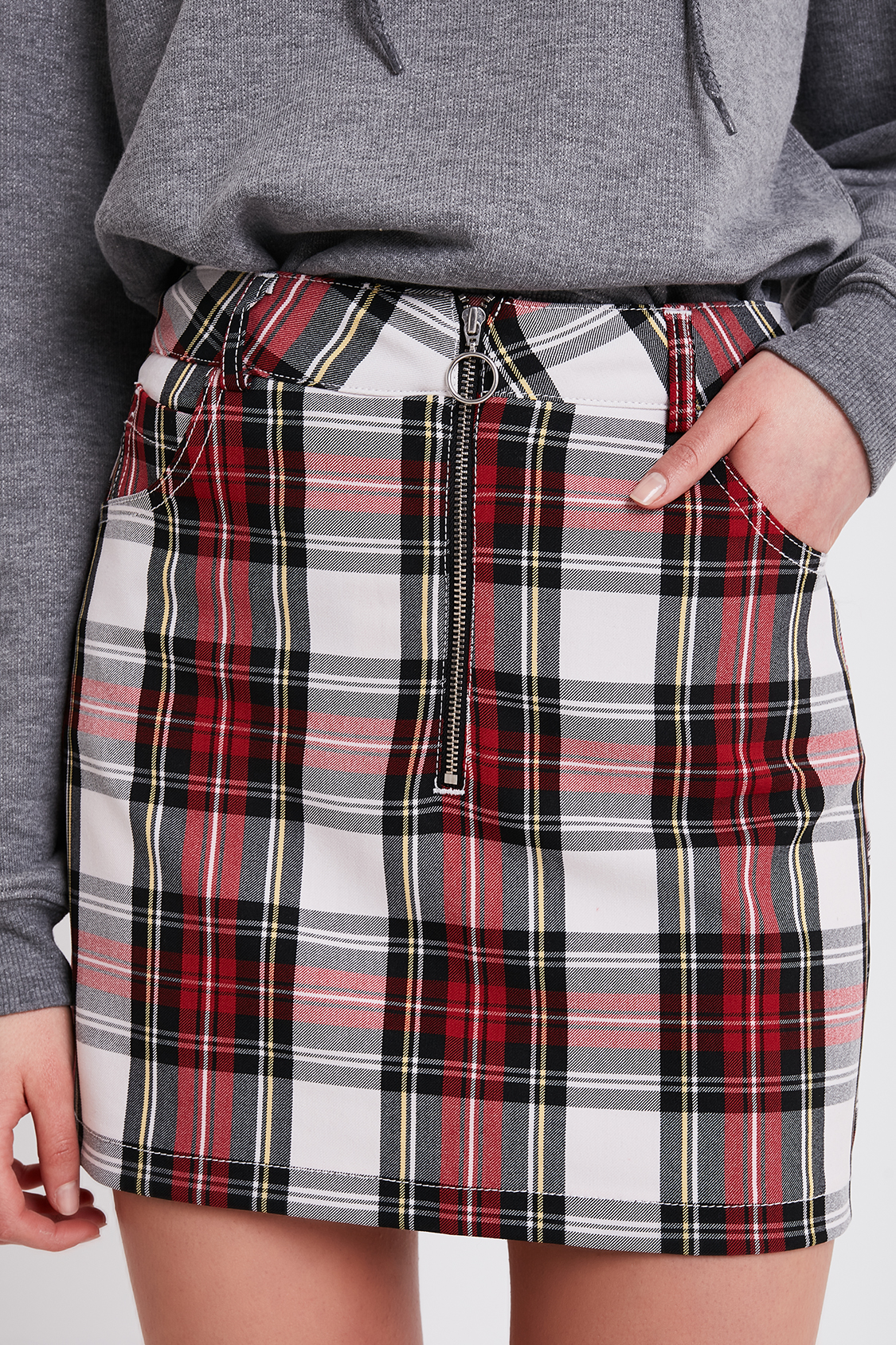 868f2e30a Checkered zip skirt. Skip to the beginning of the images gallery