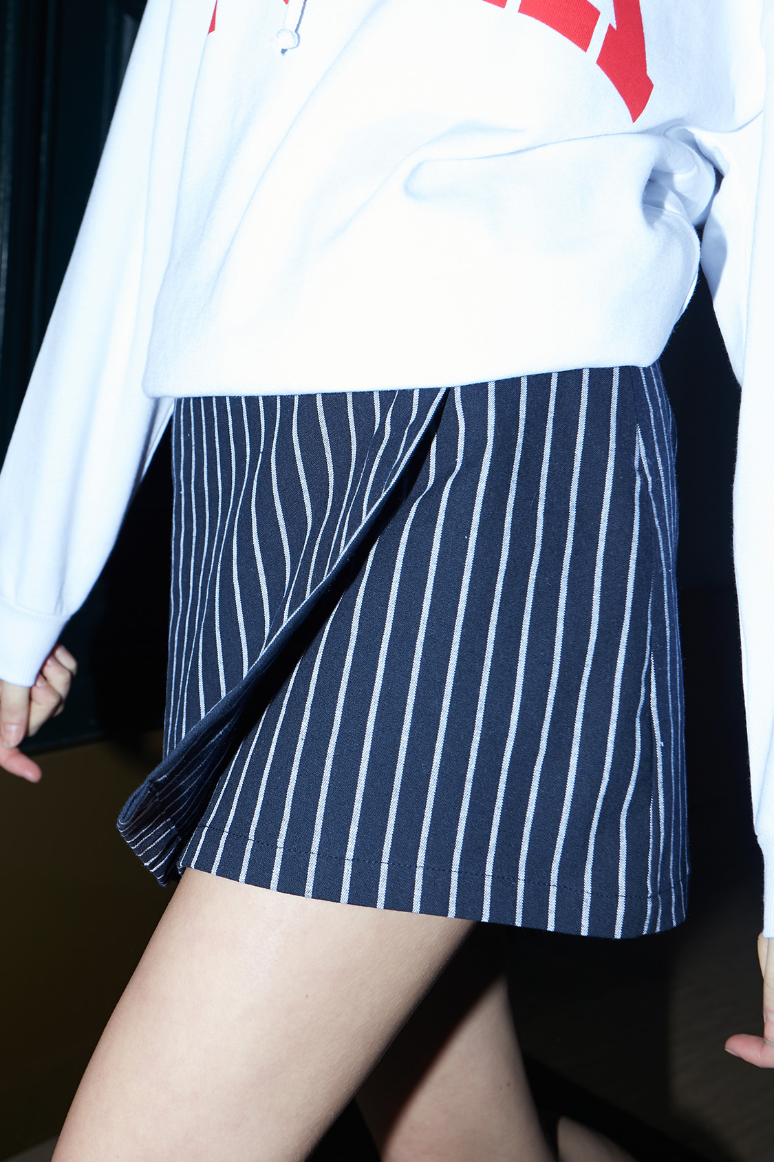 Patterned wrap front skirt