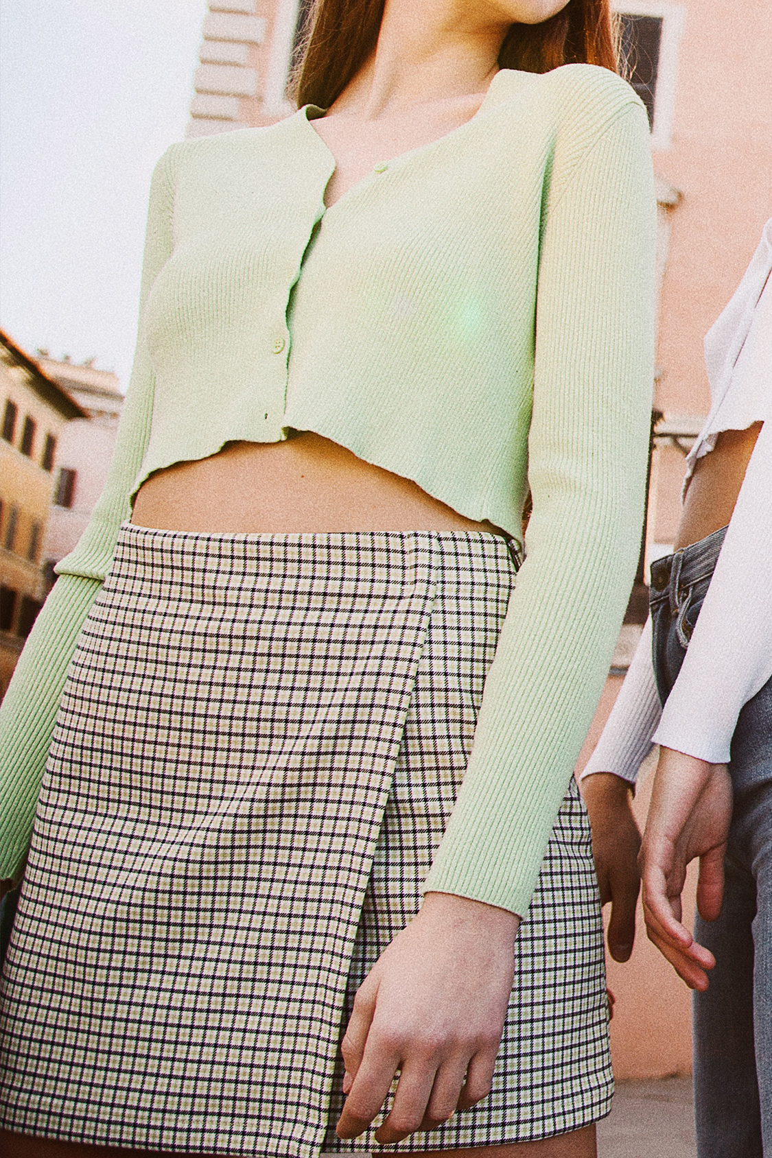Side zip wrap skirt