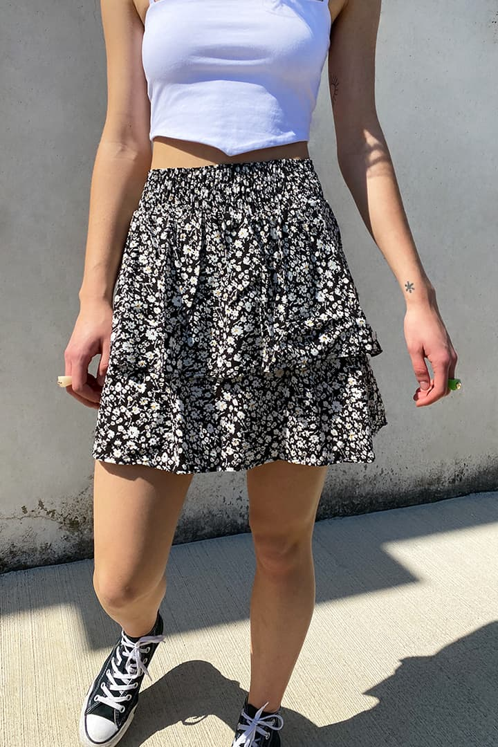 Double ruffled skirt