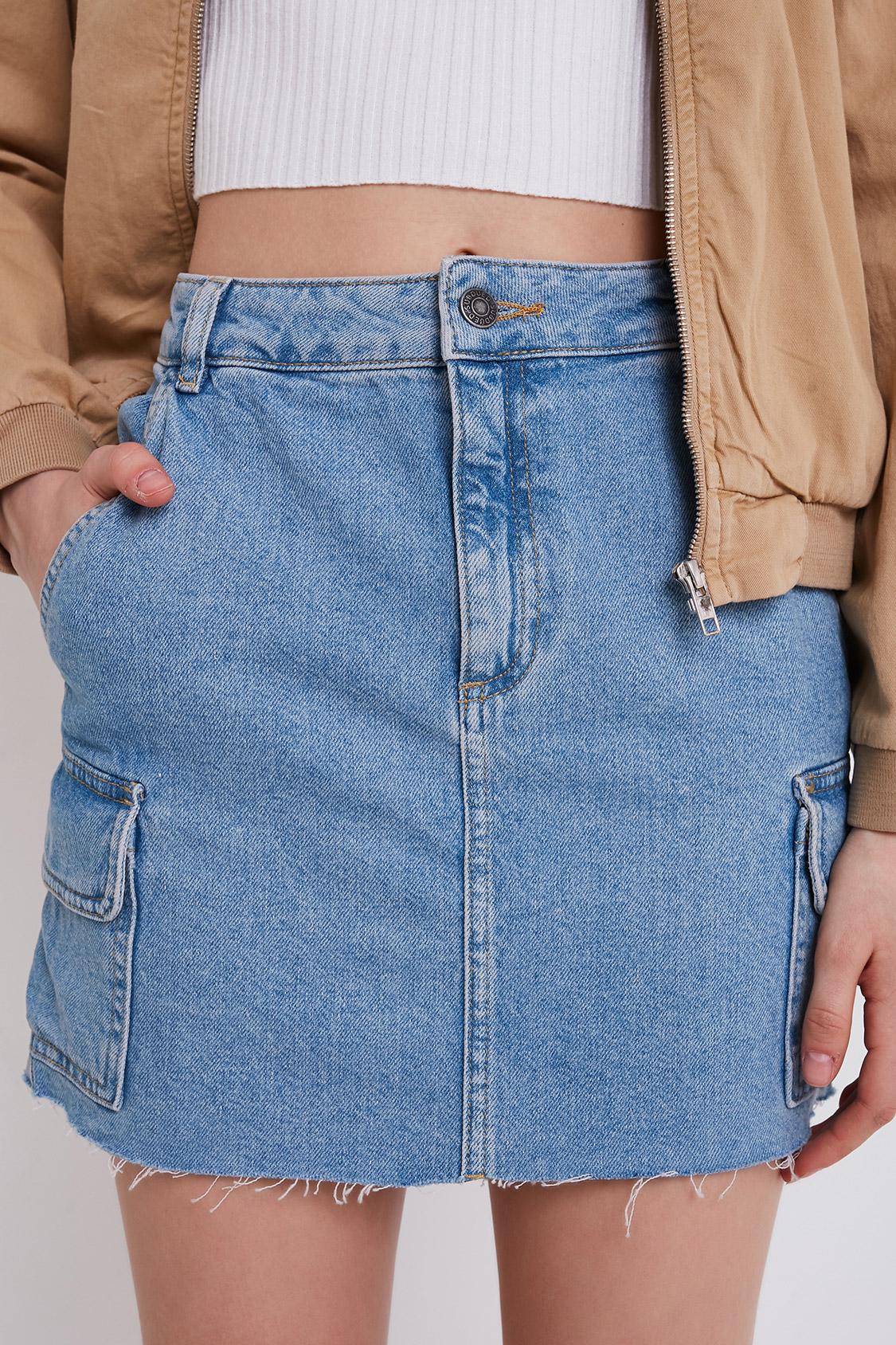 Jupe cargo en jean